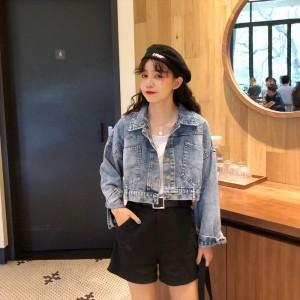 Women Korean Fashion Loose Denim Jacket
