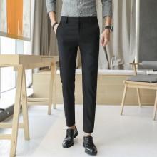 Men Korean Fashion Straight Casual Long Summer Trouser