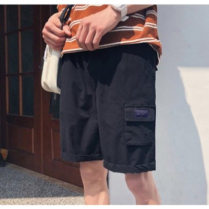 Men Korean Fashion  Summer Outdoor Casual Tooling Shorts