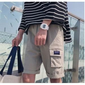 Men Korean Fashion  Summer Outdoor Casual Tooling Shorts