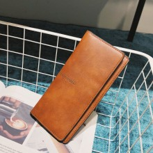 Women Fashion Big Simple Soft Surface Leather Clutch Bag