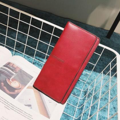Women Fashion Big Simple Soft Surface Leather Clutch Bag