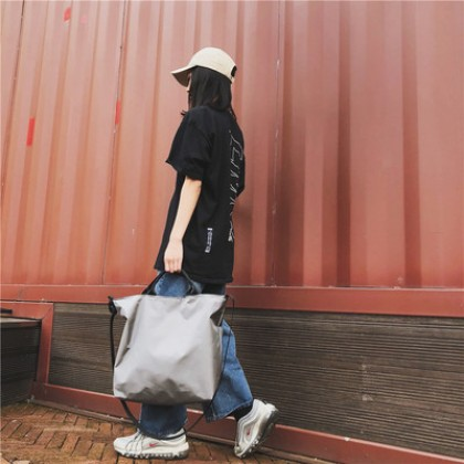 Men Korean Fashion Large Messenger Nylon Shoulder Bag