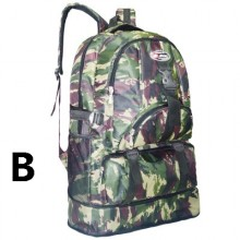 Men Korean Trend Camouflage Travel And Outdoor Large Backpack