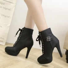 Women Korean Fashion Retro Sexy High Heeled Skinny Boots