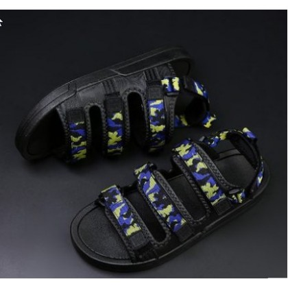 Men Korean Fashion Soft Bottom Camouflage Beach Sandals