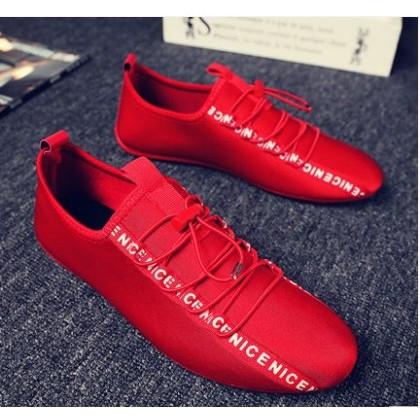 Men Korean Fashion Wild Style  CasualLace Up Peas Shoes