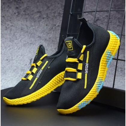 Men Korean Fashion Sports and Leisure Wild Running Shoes
