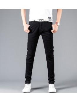 Men Korean Fashion Solid Color Slim Fit Summer Casual Pants