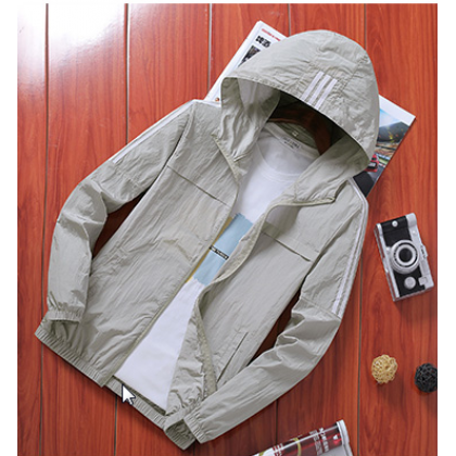 Men Fashion Youth Trend Outdoor Sports Hooded Jacket