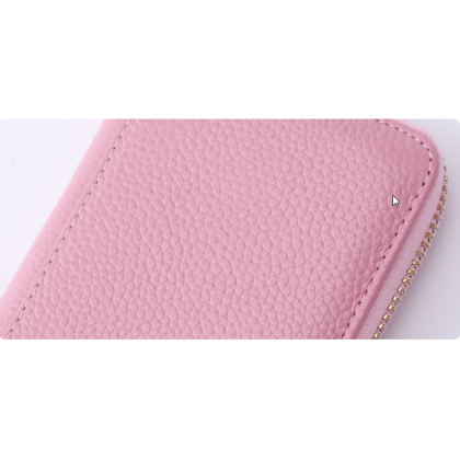 Women Multi Card Large Leather Anti Theft Small Wallet