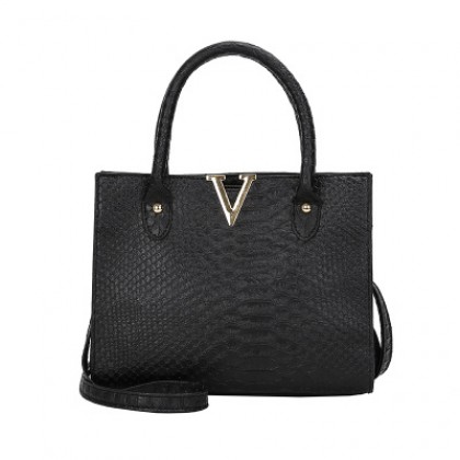 Women Korean Fashion Crocodile Pattern Wild Messenger Shoulder Bag