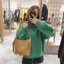 Women Korean Fashion Simple Large Capacity Bucket Style Shoulder Bag