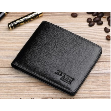 Men Korean Trend Short Casual Cross Section Genuine Leather Wallet