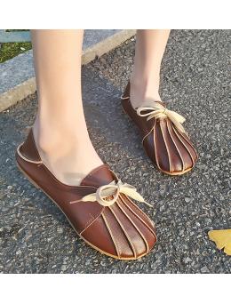 Women Korean Fashion Wild Spring Flat Lazy Peas Shoes
