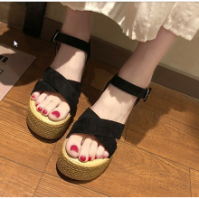 Women Korean Fashion New Fairy High Heel Wedge Roman Style Sandlas