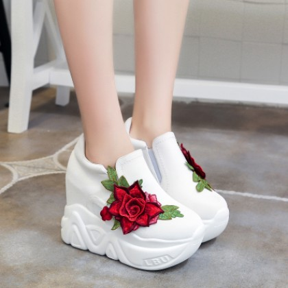 Women Korean Fashion Super High Thick Bottom Sporty Pedal Shoes