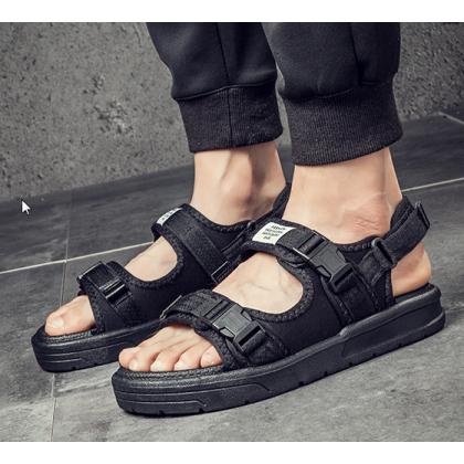 Men Korean Trendy Dual Use Non Slip Casual  Beach Sandals