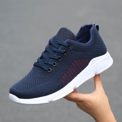 Men Korean Fashion Mesh Casual Breathable Lightweight Running Shoes