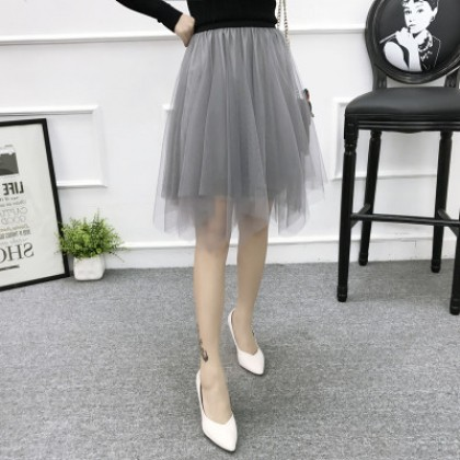 Women Korean Fashion Mesh  Fluffy Fairy Short Skirt
