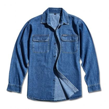Men Fashion  Long Sleeved Denim Cotton Loose Shirt
