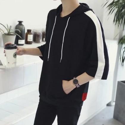 Men Korean Fashion Long Sleeved  Casual Hooded Jacket