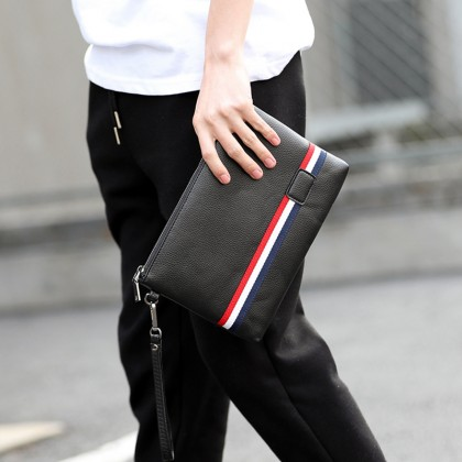 Men Fashion Light Business Casual Street Wrist Clutch Bag