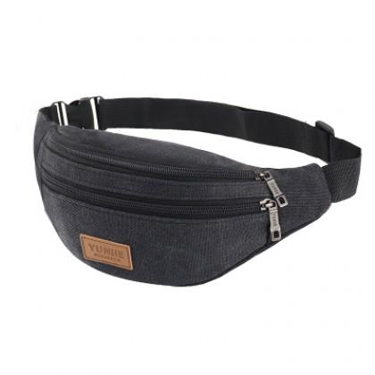 Men Fashion Canvas Pockets Multi Function Large Capacity Outdoor Bag