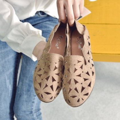 Women Korean Fashion Wild Soft Bottom Breathable Casual Flat Shoes
