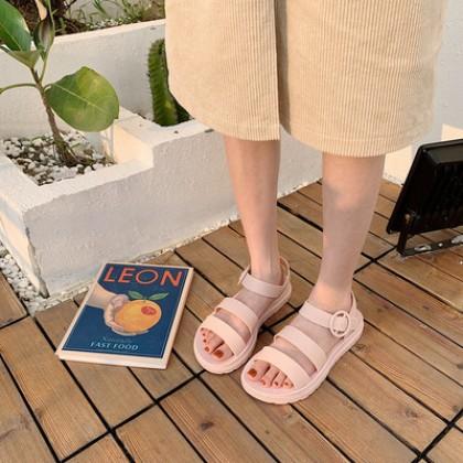 Women Korean Fashion Roman Fairy Jelly Beach Sandals
