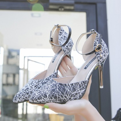 Women Korean Fashion Wild Fine Sexy Shallow Mouth High Heeled Shoes