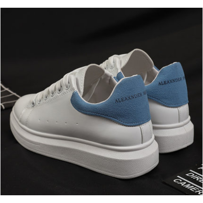 Women Korean Trend Wild White Thick Soled Fashion Sneakers