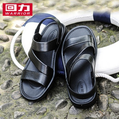 Men Korean Fashion Pull Back Leather Soft Bottom Sandals