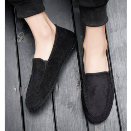 Men Korean Fashion Breathable Cloth Casual Canvas Peas Shoes