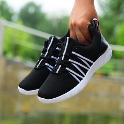 Men  Lightweight Woven Casual Cloth Flat Bottom Running Shoes