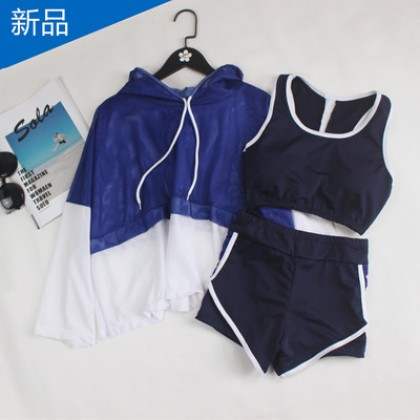 Women Korean Fashion 3 Piece Split Boxer Sport Sexy Swimwear