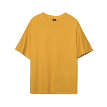 Men Fashion Youth Trend Short Sleeved  Solid Color  Oversize Shirt