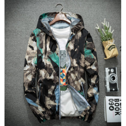 Men Fashion Street Style   Camouflage Breathable Sports Jacket