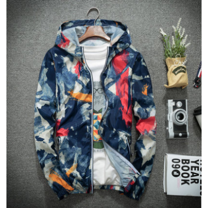 Men Fashion Street Style   Camouflage Breathable Sports Jacket