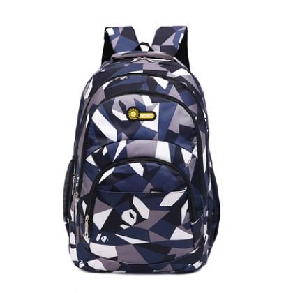 Men Korean Fashion Waterproof  Soft Handle College Backpack