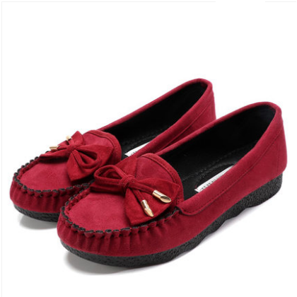 Women Korean Trend Comfortable Cloth Flat Bottom Casual Shoes