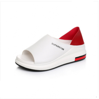 Women Korean Fashion Wild Casual Muffin Bottom Pedal Sandals