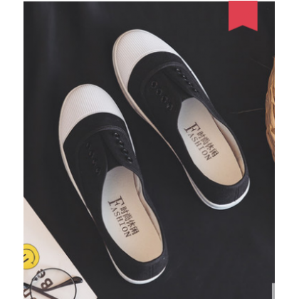 Women Fashion Harajuku Style  Lazy Flat Bottom Pedal Shoes