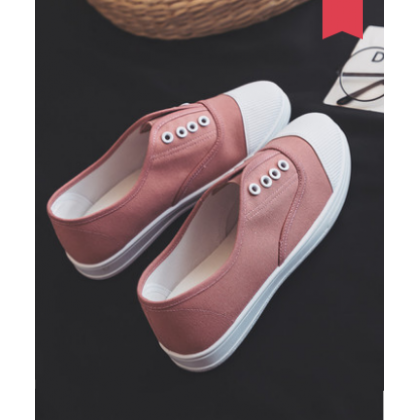 Women Fashion Harajuku Style  Lazy Flat Bottom Pedal Shoes