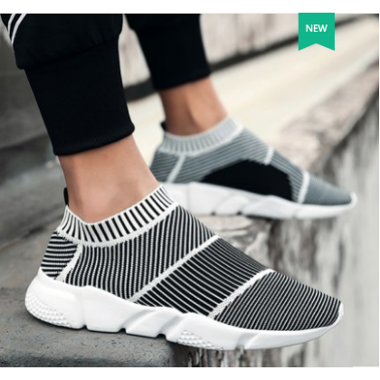Men Fashion Trend Summer Breathable Cloth Sock Sports Shoes