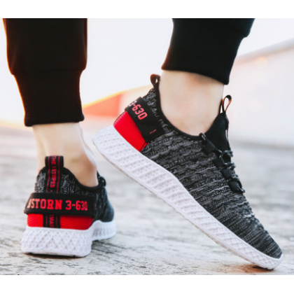 Men Fashion Trend Summer Breathable Cloth Youth Casual Sports Shoes