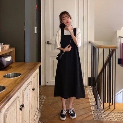 Women Korean Fashion Long Strap Fairy Jumper Dress