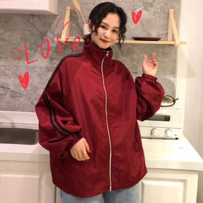Women  Korean Fashion Harajuku Style  Loose Wild Thin Biker Jacket