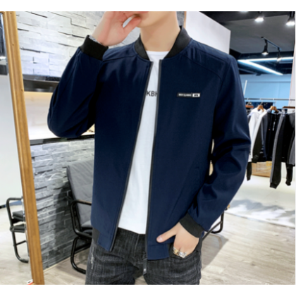 Men Fashion Youth Trend Long Sleeve Loose Wild Style Jacket