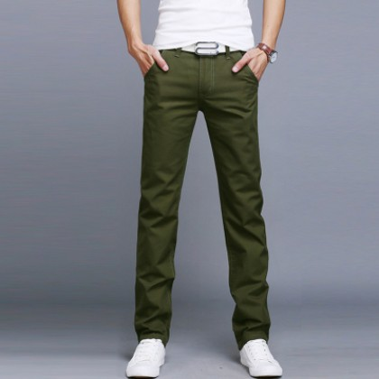 Men Korean Fashion Summer Thin Straight Slim Pants